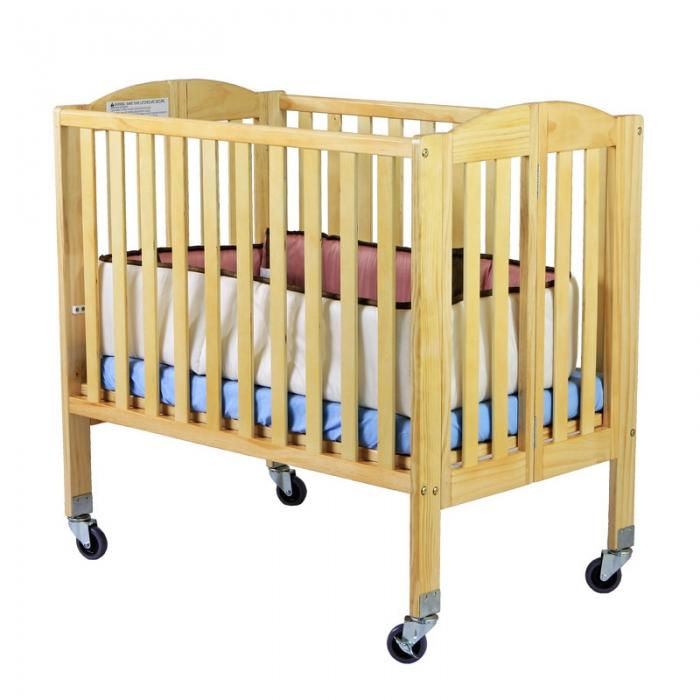 2 In 1 Folding Birch Portable Crib Dream On Me