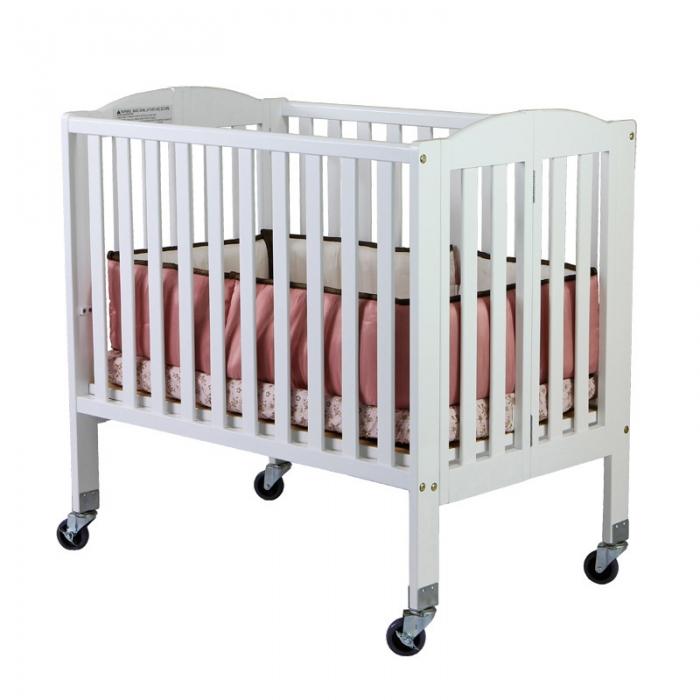 2 in 1 Folding, Birch Portable Crib   Dream On Me