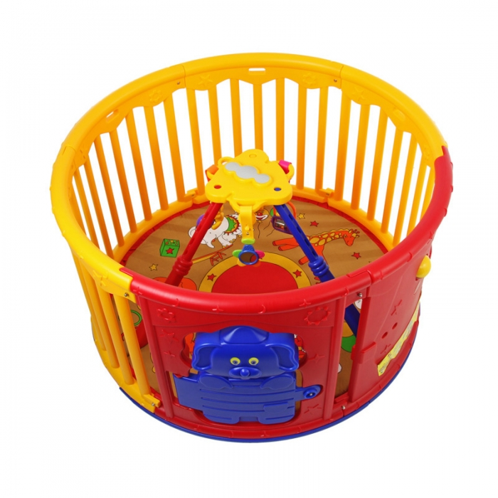 deluxe circular play yard with jungle gym dream on me