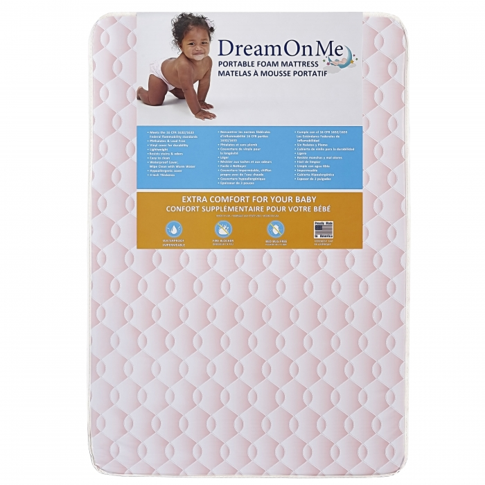 Travel Lite Portable Min Play Yard Foam Mattress with Round