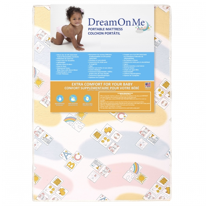 Soothe Me Softly Playard Firm Foam Mattress   Dream On Me