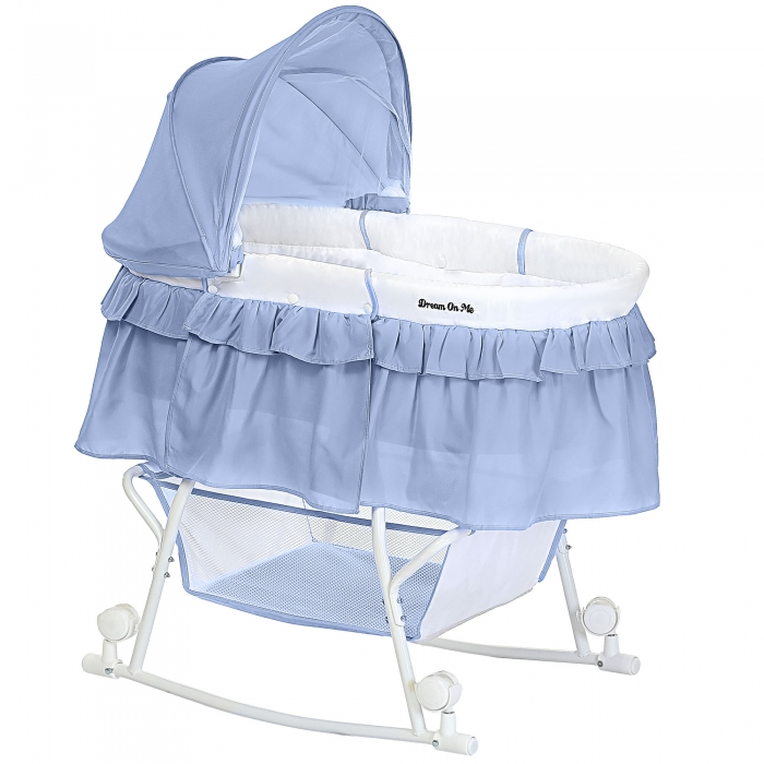 Lacy Portable 2 in 1 Bassinet & Cradle | Dream On Me