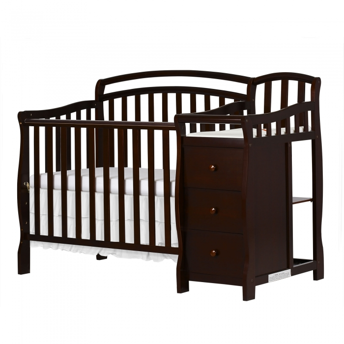 Casco 3 in 1 Mini Crib and Dressing Table Combo : Dream On Me