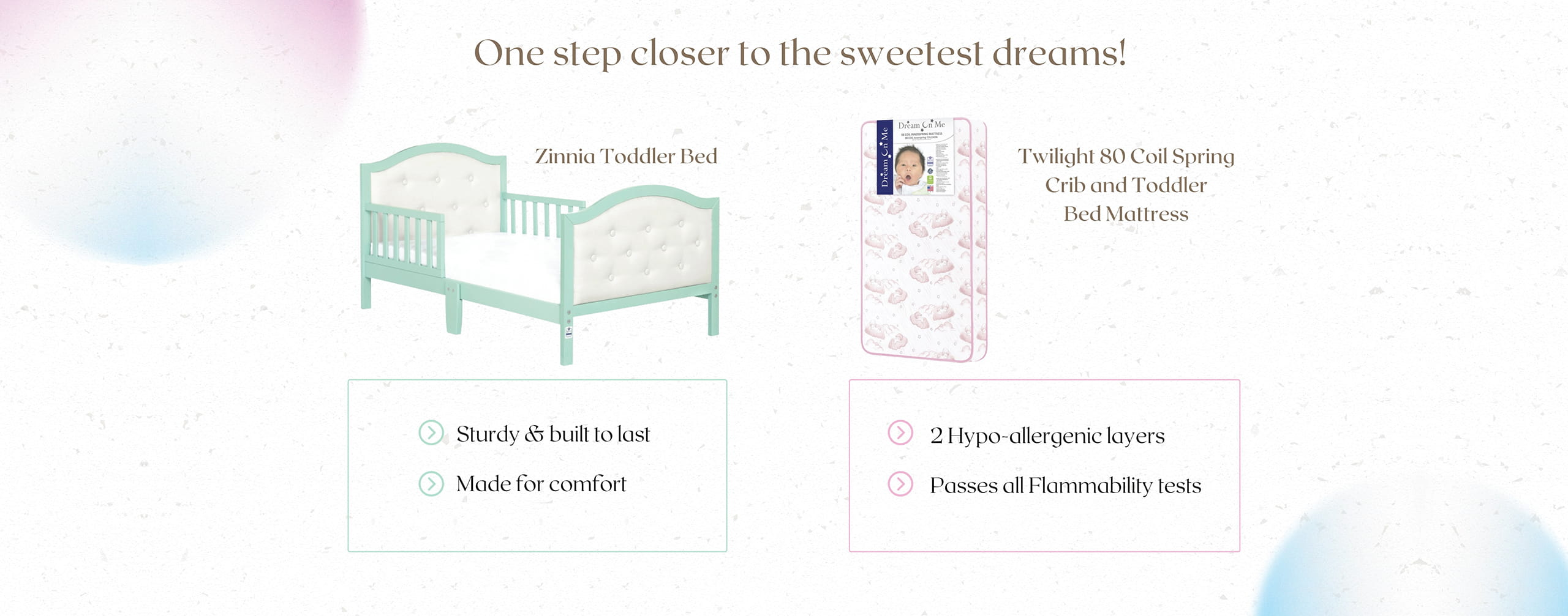 Dream On Me Toddler Bed and Mattress