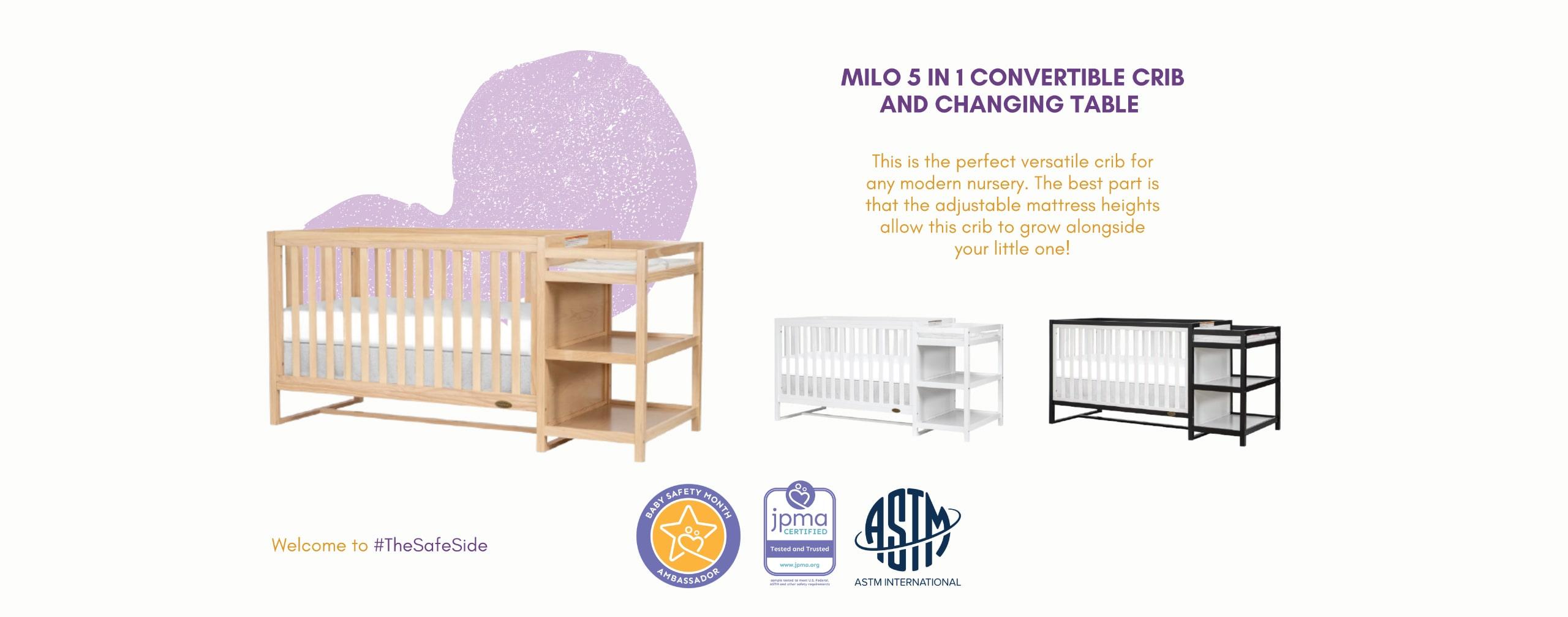 Milo Wood Crib